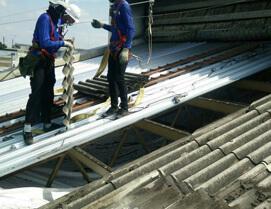 アステックペイントの工事内容 屋根の葺き替え工事画像