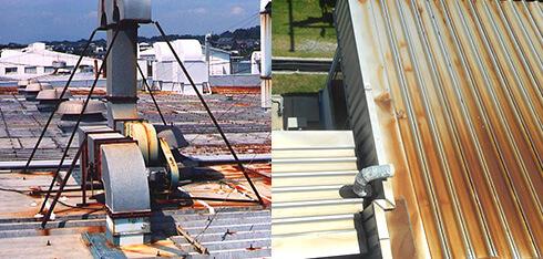 屋根塗装工事 錆による漏水用画像