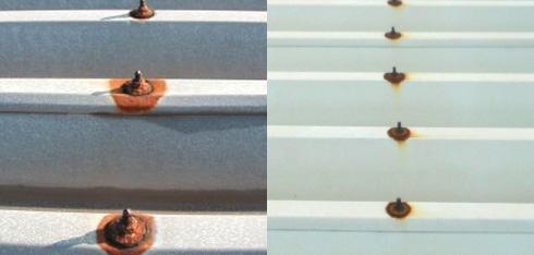 屋根塗装工事 フックボルトからの漏水用画像