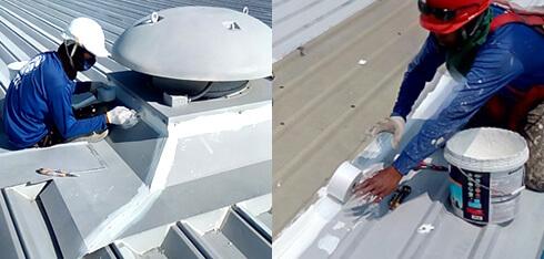 屋根塗装工事 スカイライト(明り取り)、換気口からの漏水用画像