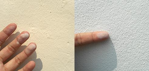 外壁塗装工事 塗装表面のチョーキング用画像