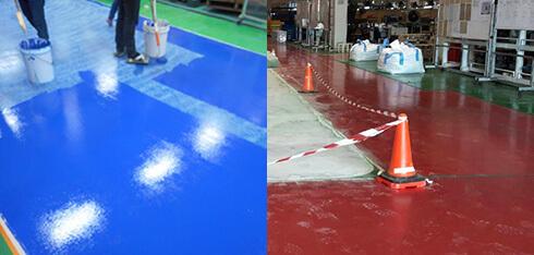 床塗装 下地調整 (研磨・油除去処理ほか)