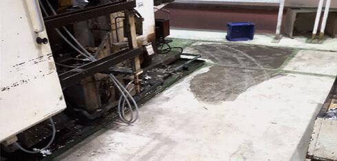 床塗装 現場調査(下地の状態)