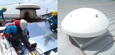 屋根葺き替え 屋根の換気口の設置
